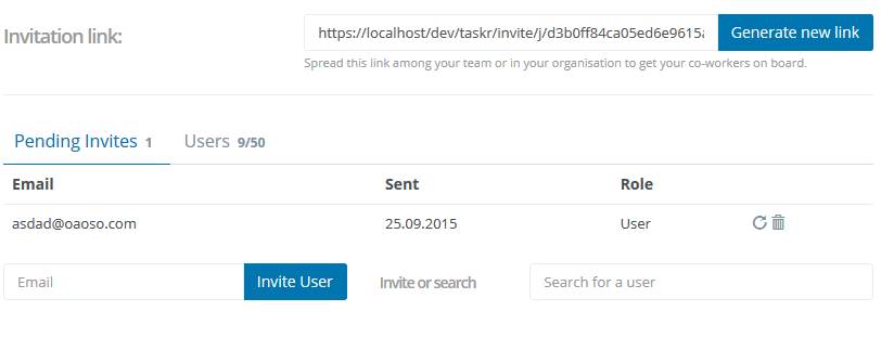 Invitations   taskblitz   project focused team collaboration software   2015 10 19 15.06.21 Organisation