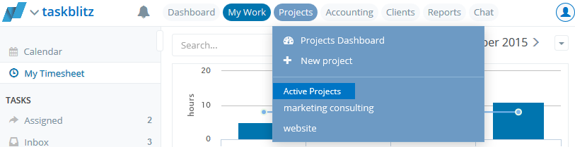 Mywork   taskblitz   project focused team collaboration software   2015 11 11 16.33.24 Updated navigation structure and new header